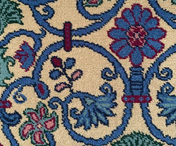 Custom Carpet Floral Design